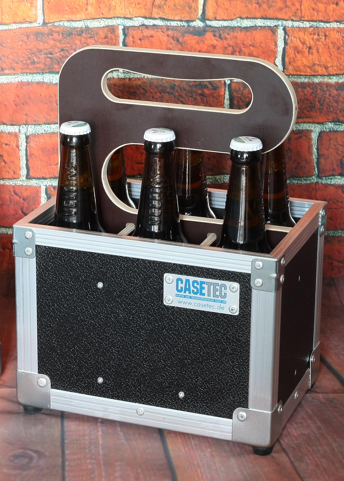 Six Pack 0,5L Flightcase (Bierflaschenträger ohne Inhalt)