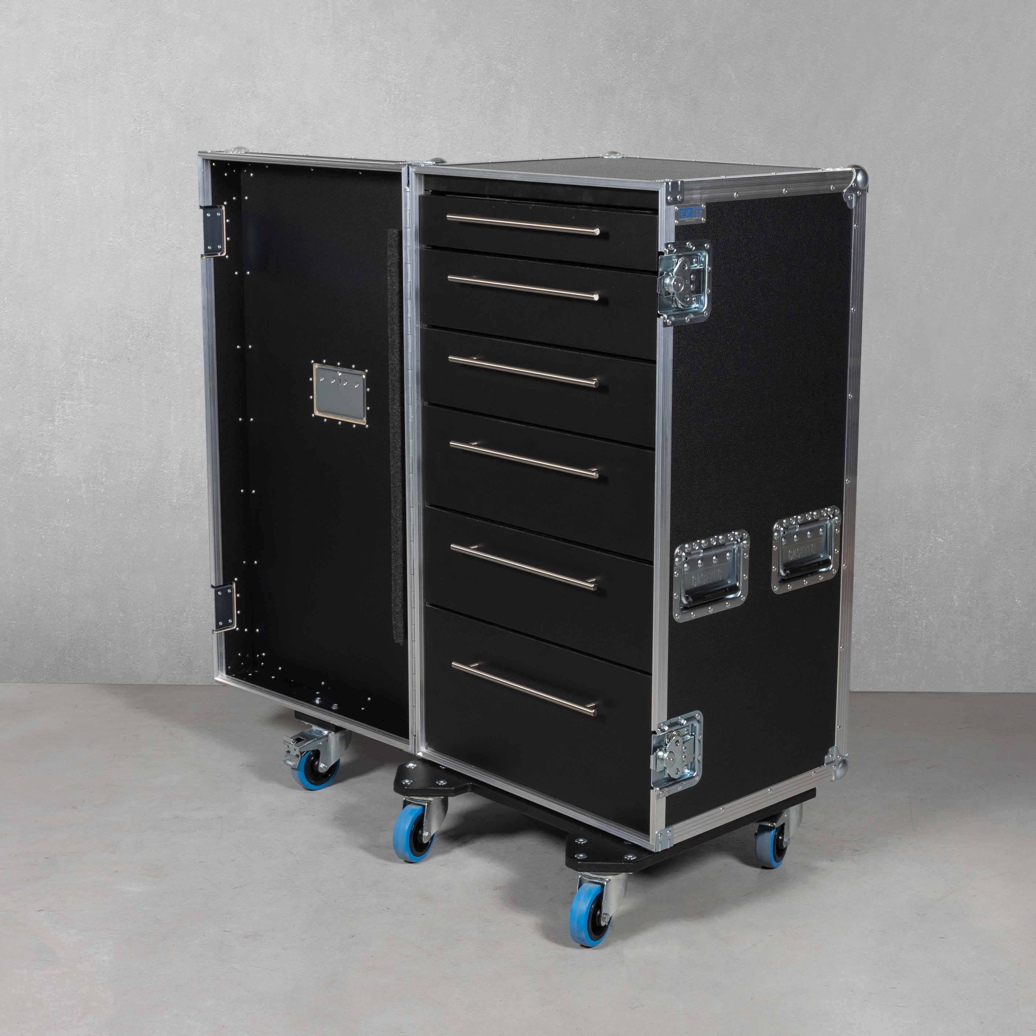 Schubladencase 120er Profi mit 6 Schubladen