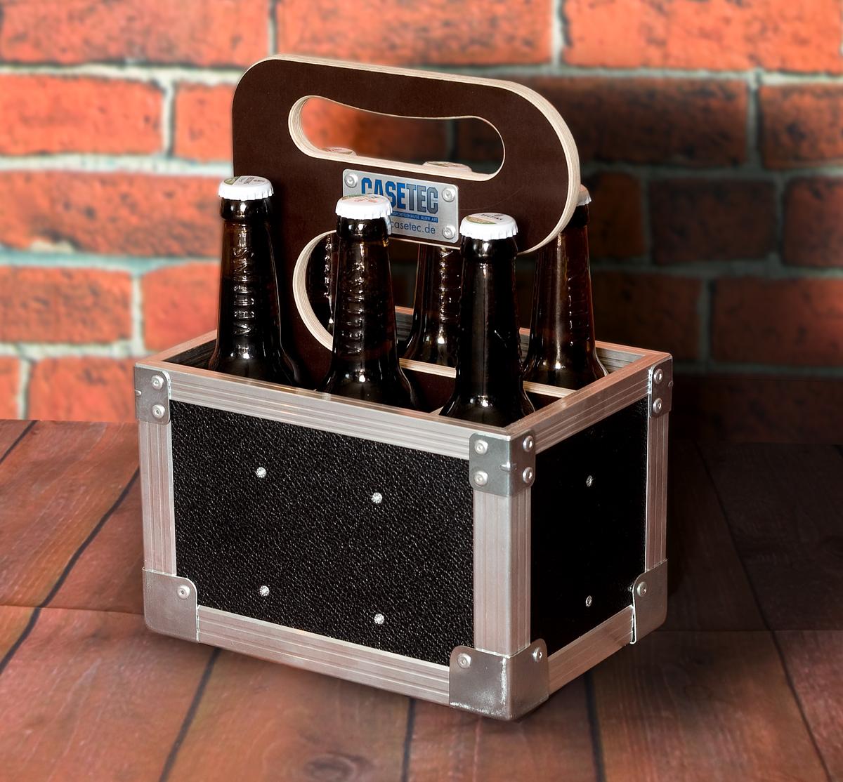 Six Pack 0,33L Flightcase (Bierflaschenträger ohne Inhalt)