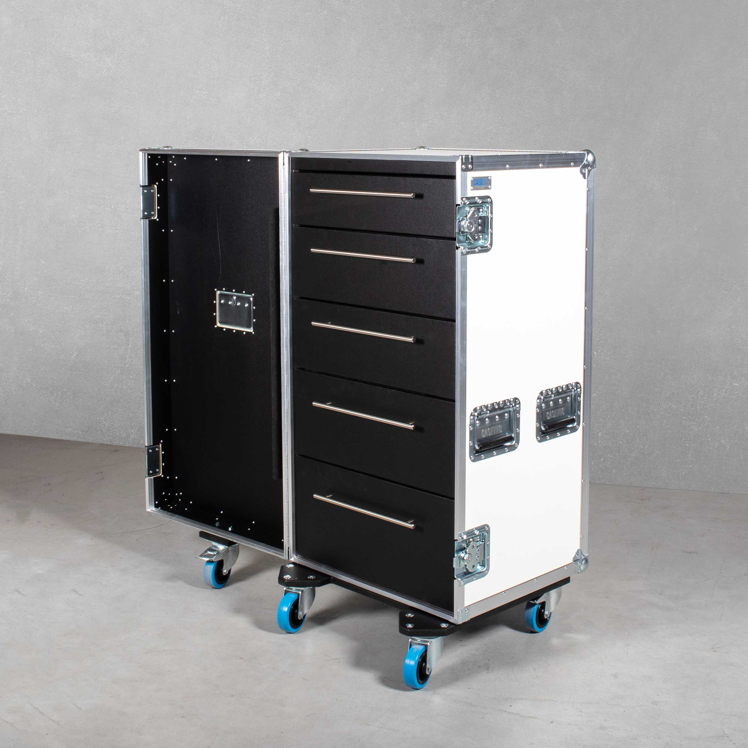 Schubladencase 120er Profi mit 5 Schubladen ohne Arbeitsfläche
