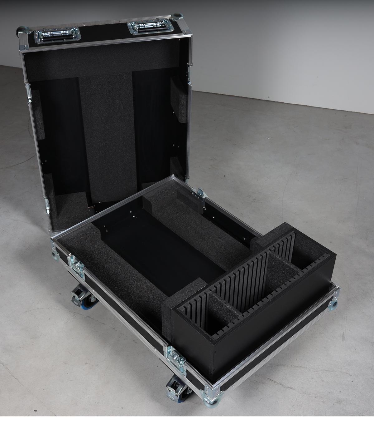 Haubencase für Panasonic PT-DX 100 / DZ 870 / DW 830 / DZ 110 DW 90 / mit montierter Aufnahmeplatte Shorty 60/6