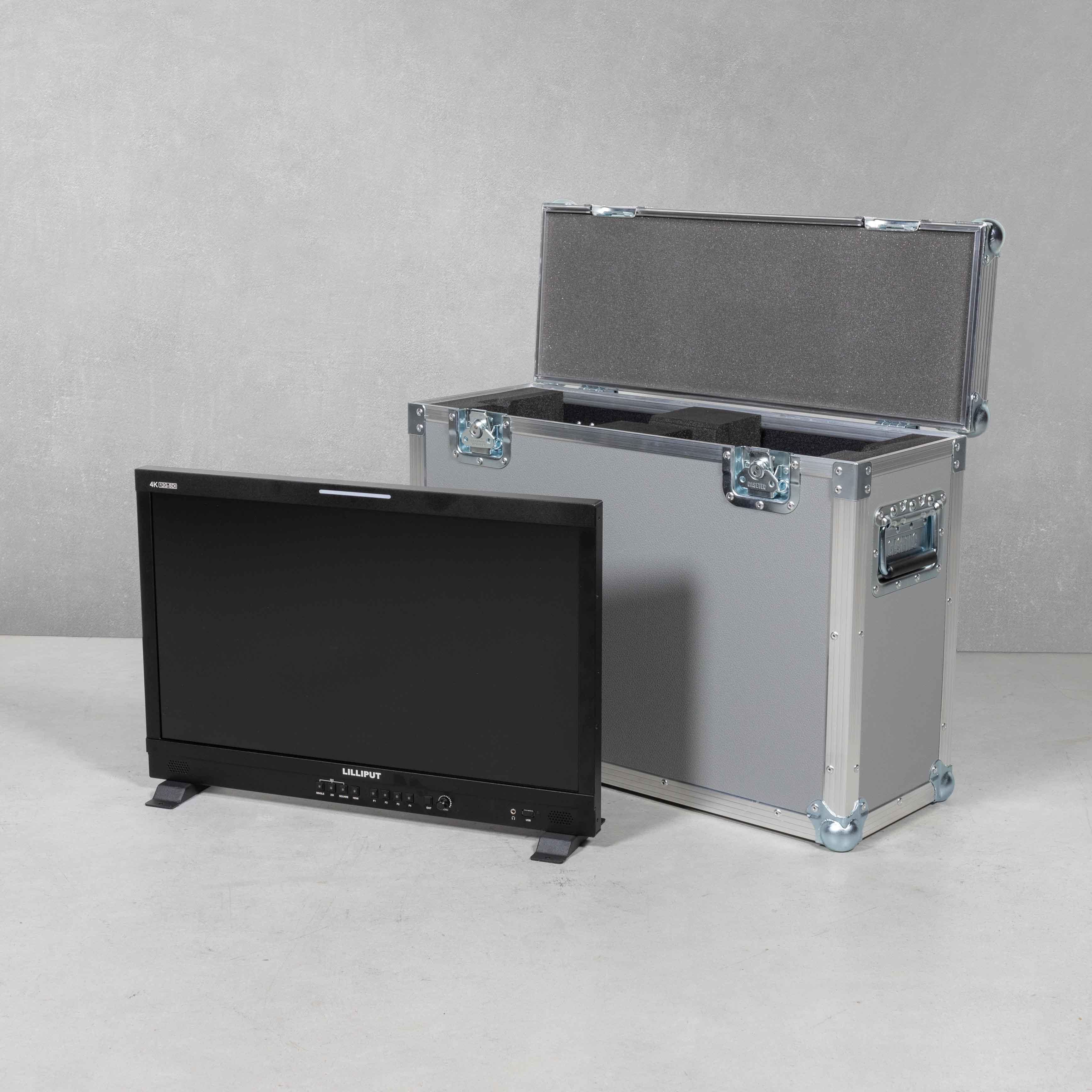 """Flightcase für Lilliput Q23 23,8""""Monitor mit Standfuß"""