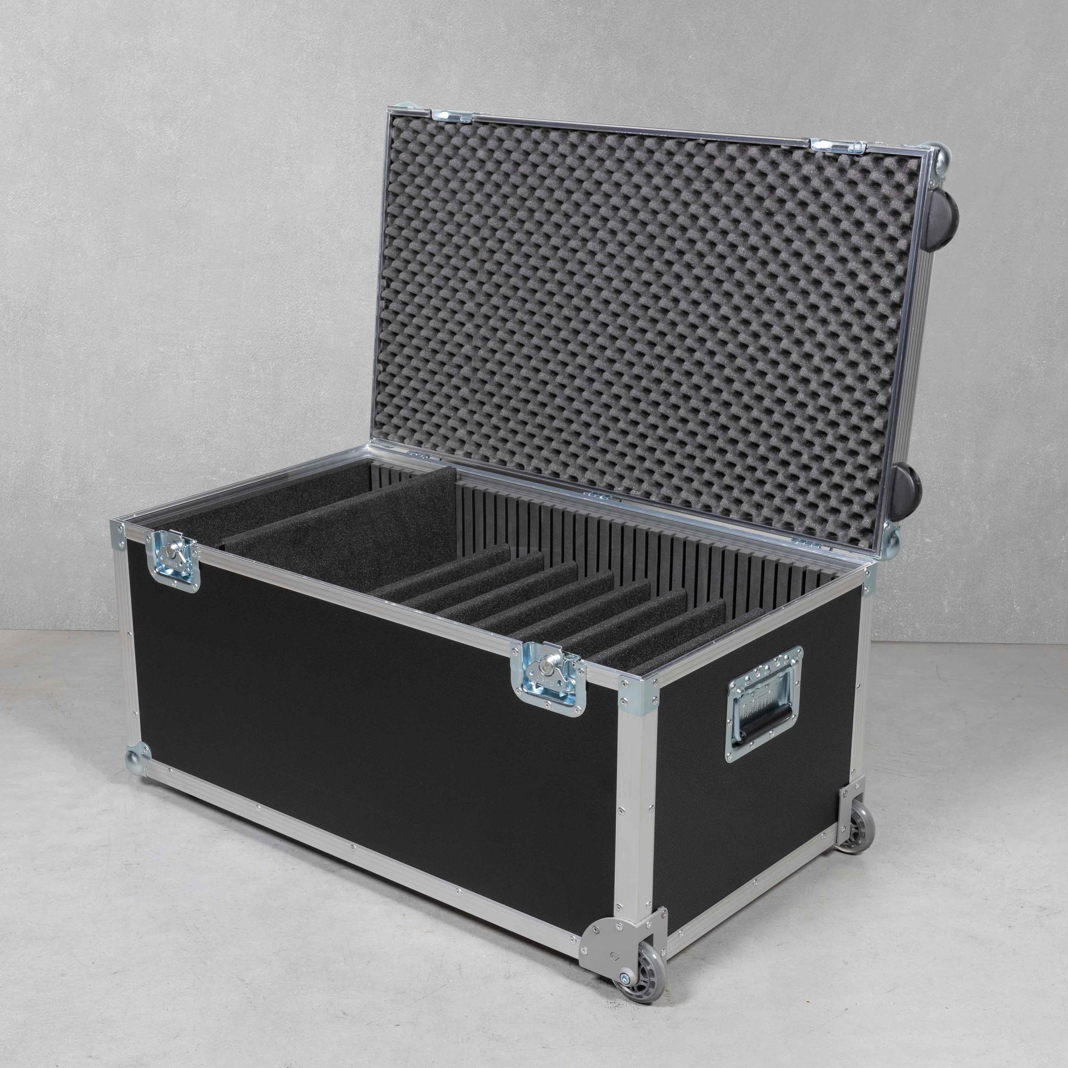 Universal Trolleycase für 10 Laptops/Notebooks mit Zubehörfach