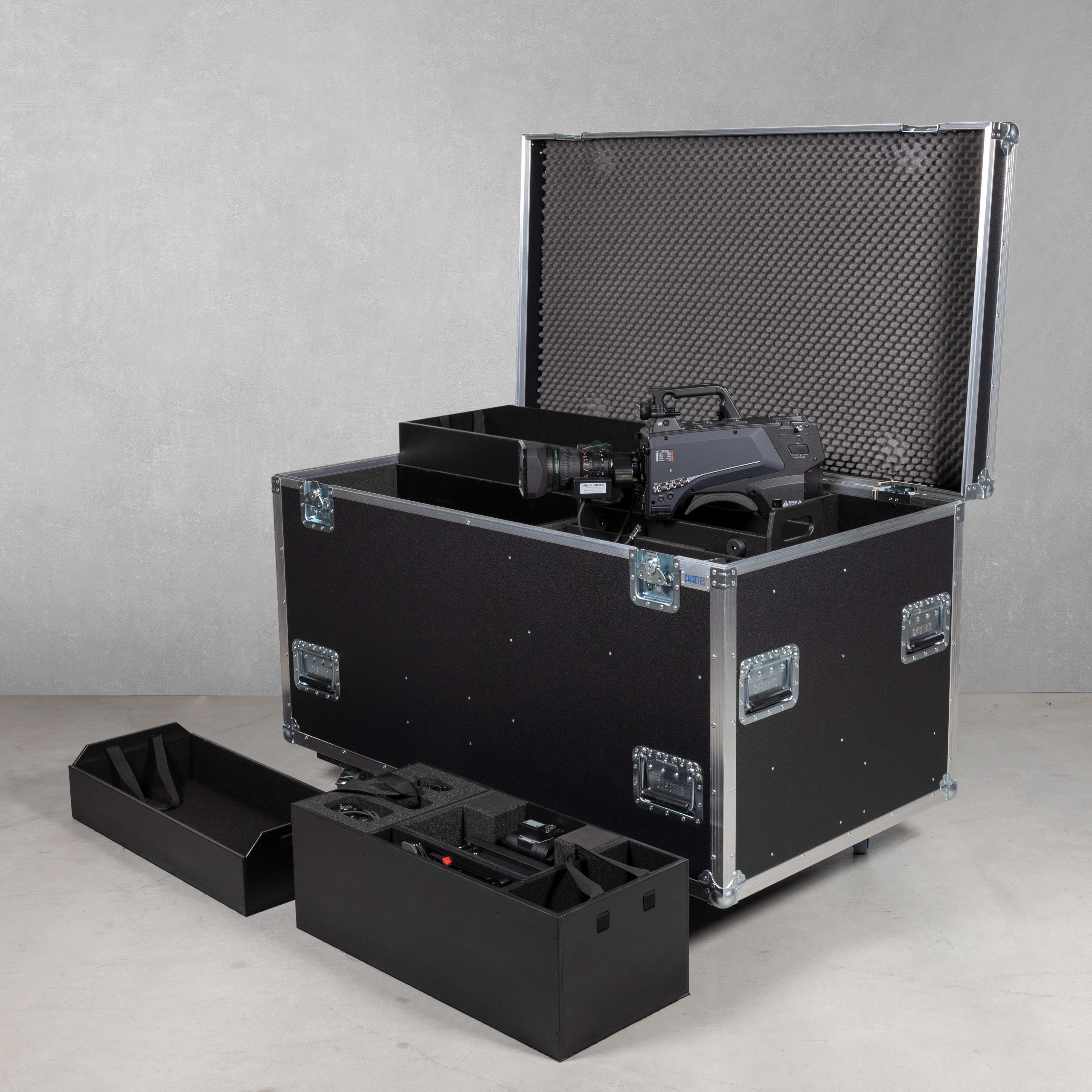 Flightcase für Kamerazug Panasonic AK-HC5000 inkl. Rackmodul