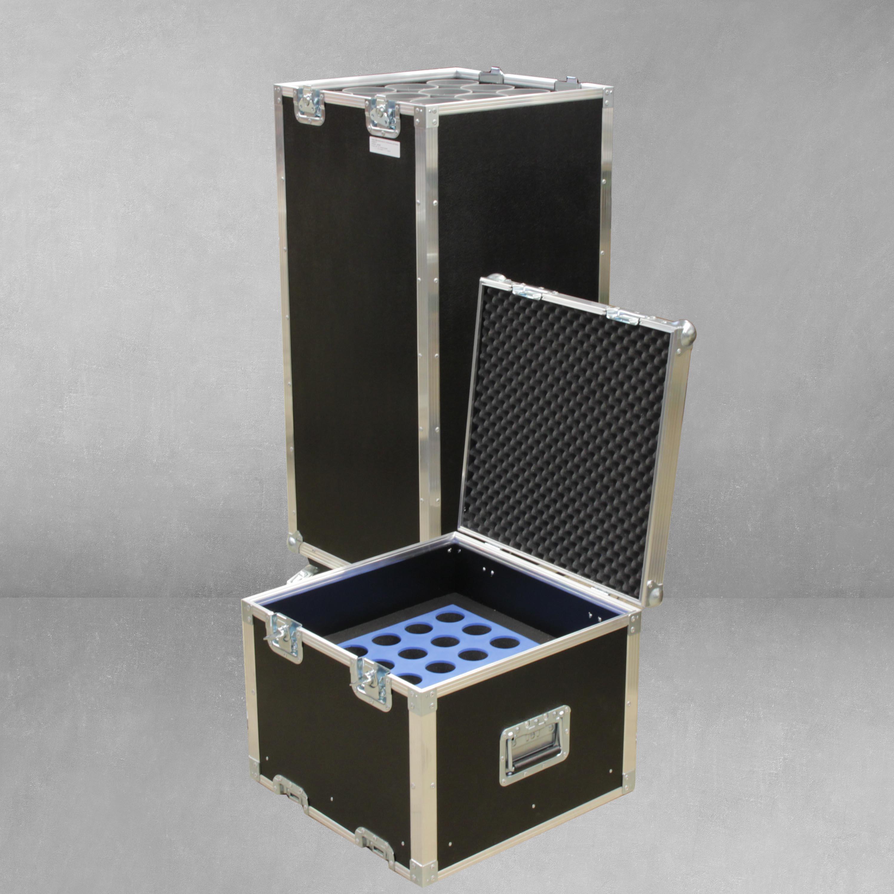 Mikrostativcase für 15 Mikrofone und Stative
