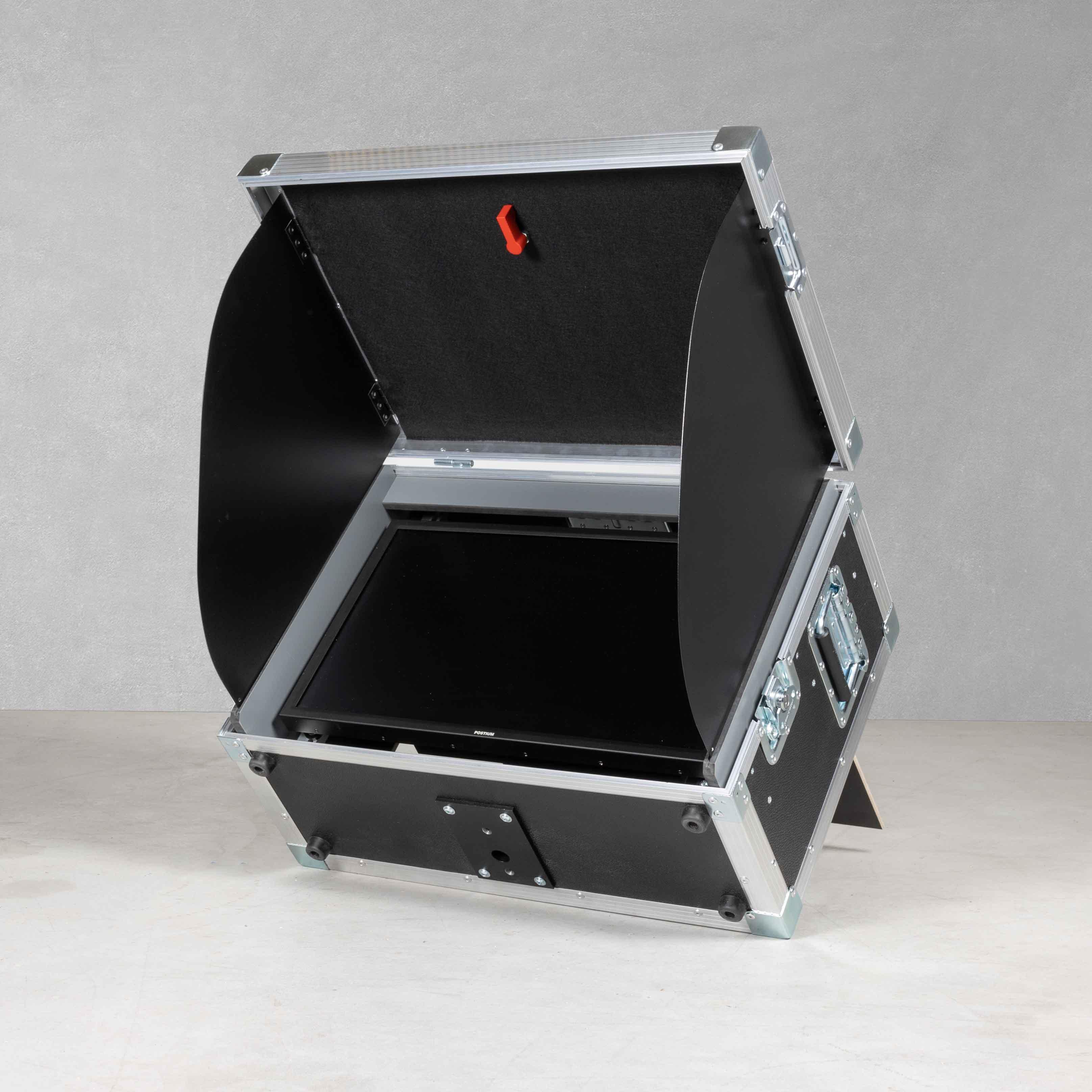 """Flightcase für ein 21"""" Videovorschaumonitor mit Sonnenblende Typ A2"""