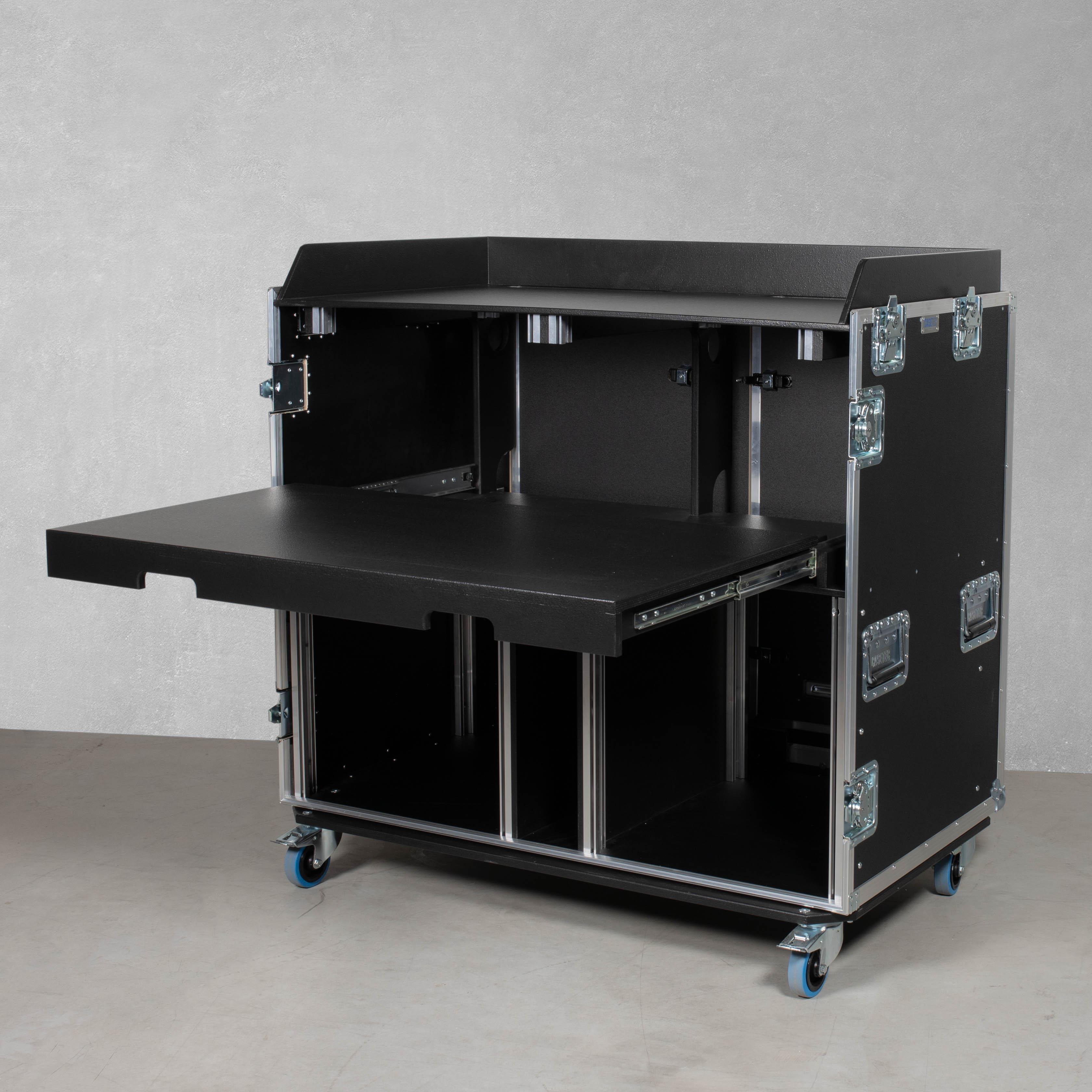 """HD Regie Case 2 x 19"""" Einheit & mit Arbeitsfläche Typ B2"""