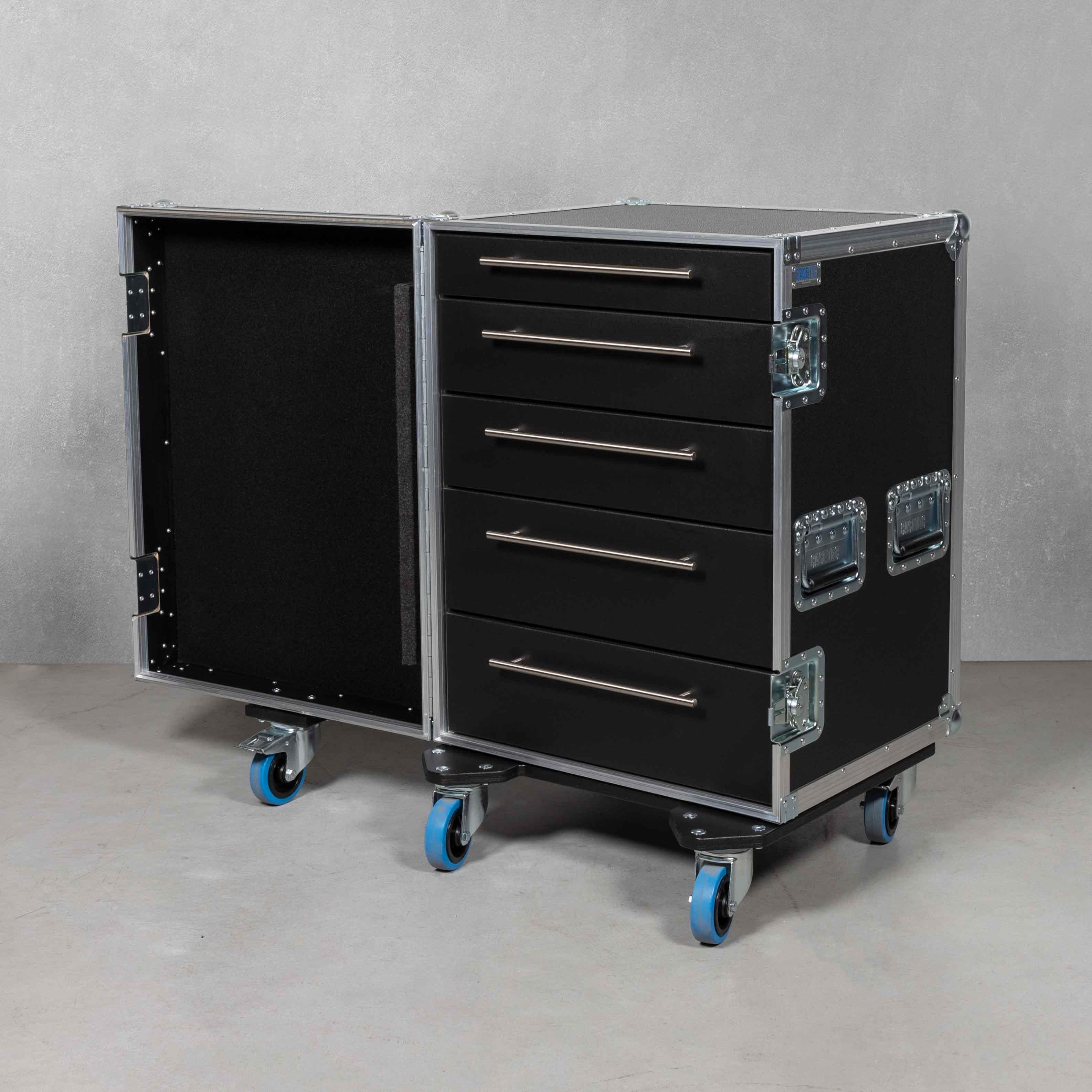 Schubladencase 90er Profi mit 5 Schubladen ohne Arbeitsfläche