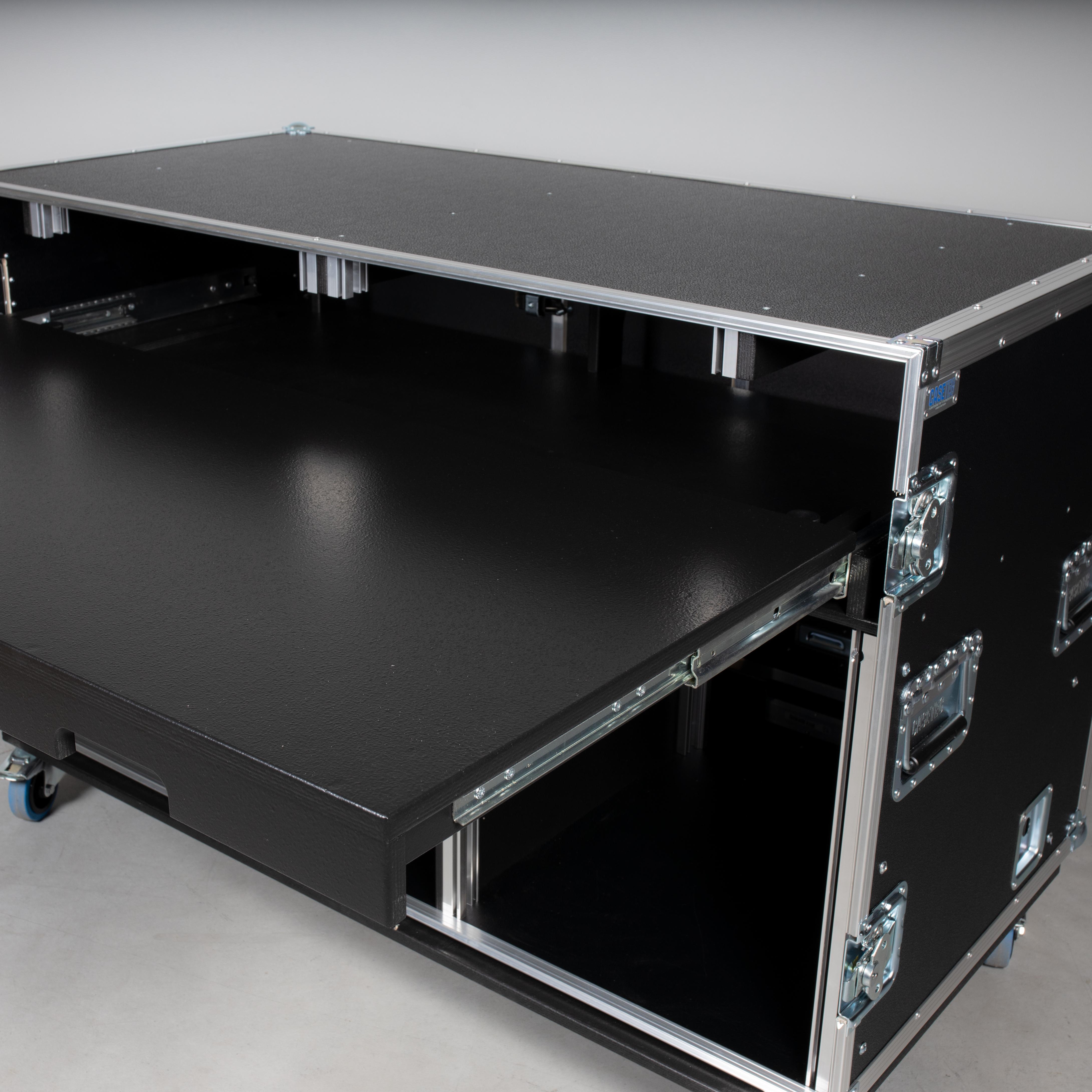 """HD Regie Case 2 x 19"""" Einheit & mit Arbeitsfläche"""