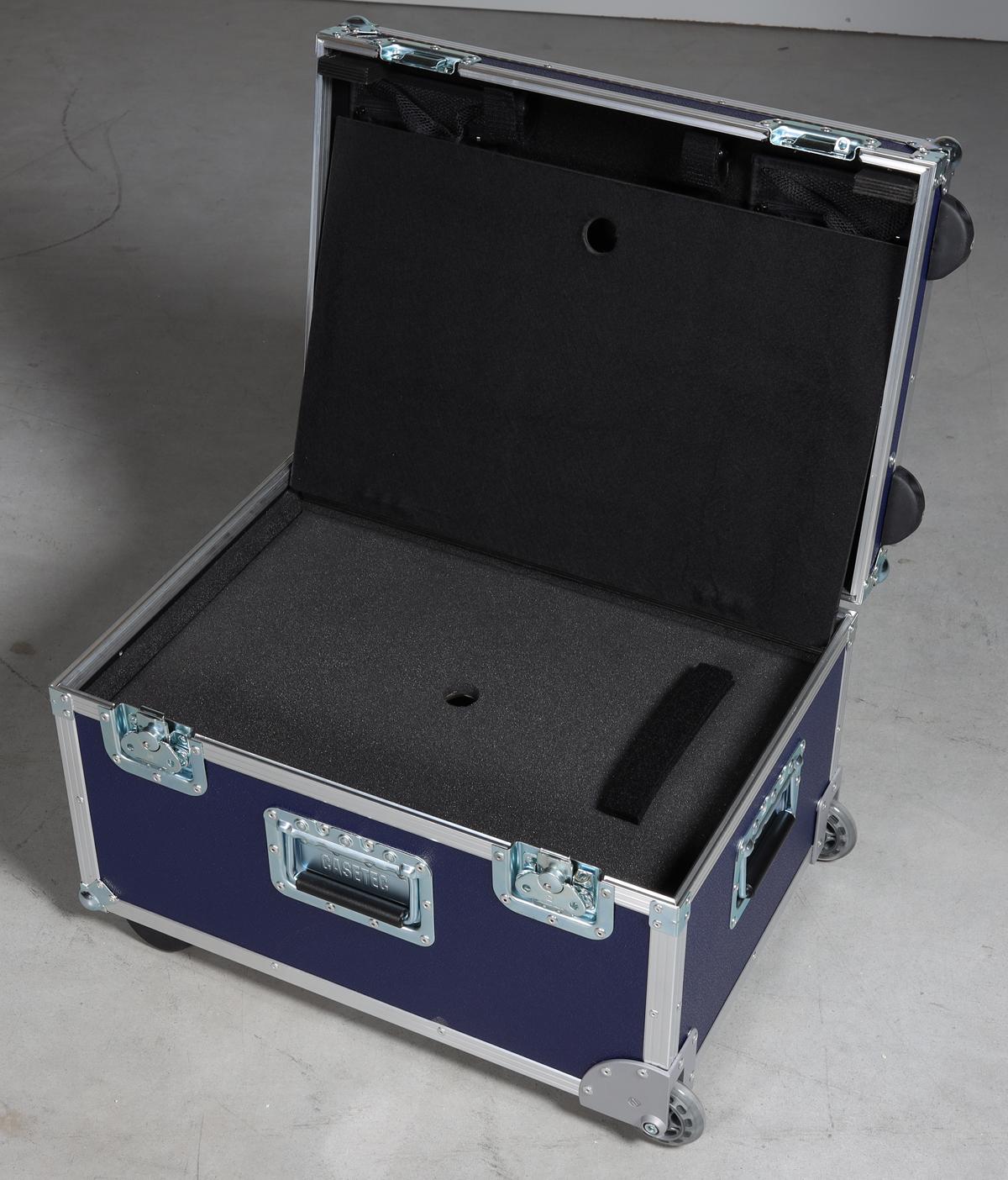 Toolkoffer Profi mit eingelassenem Trolleyausziehgriff mit Laptopfach im Unterteil V.2