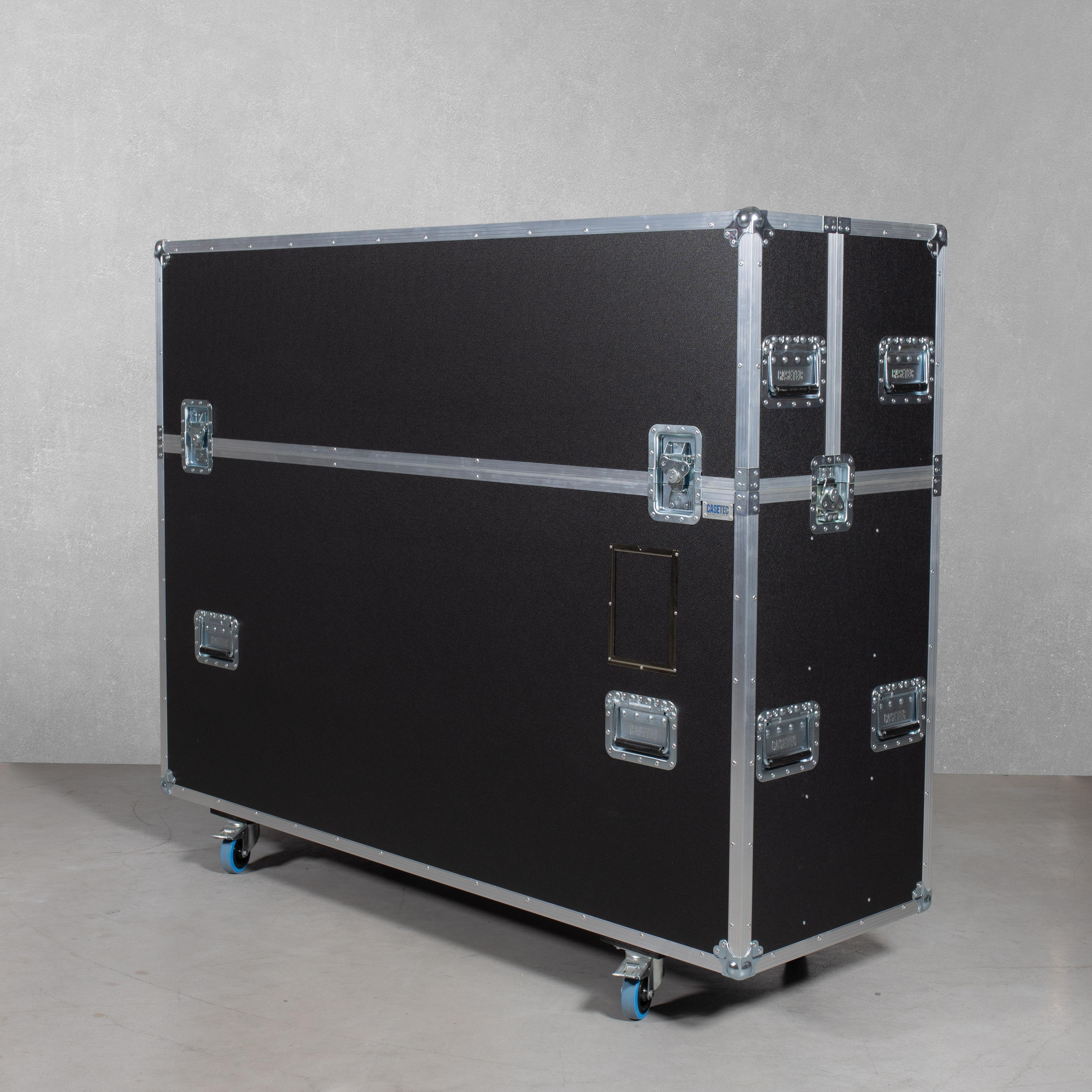 """Flightcase für 75""""-Bildschirm mit Hublift (inkl. Displayhalterung)"""