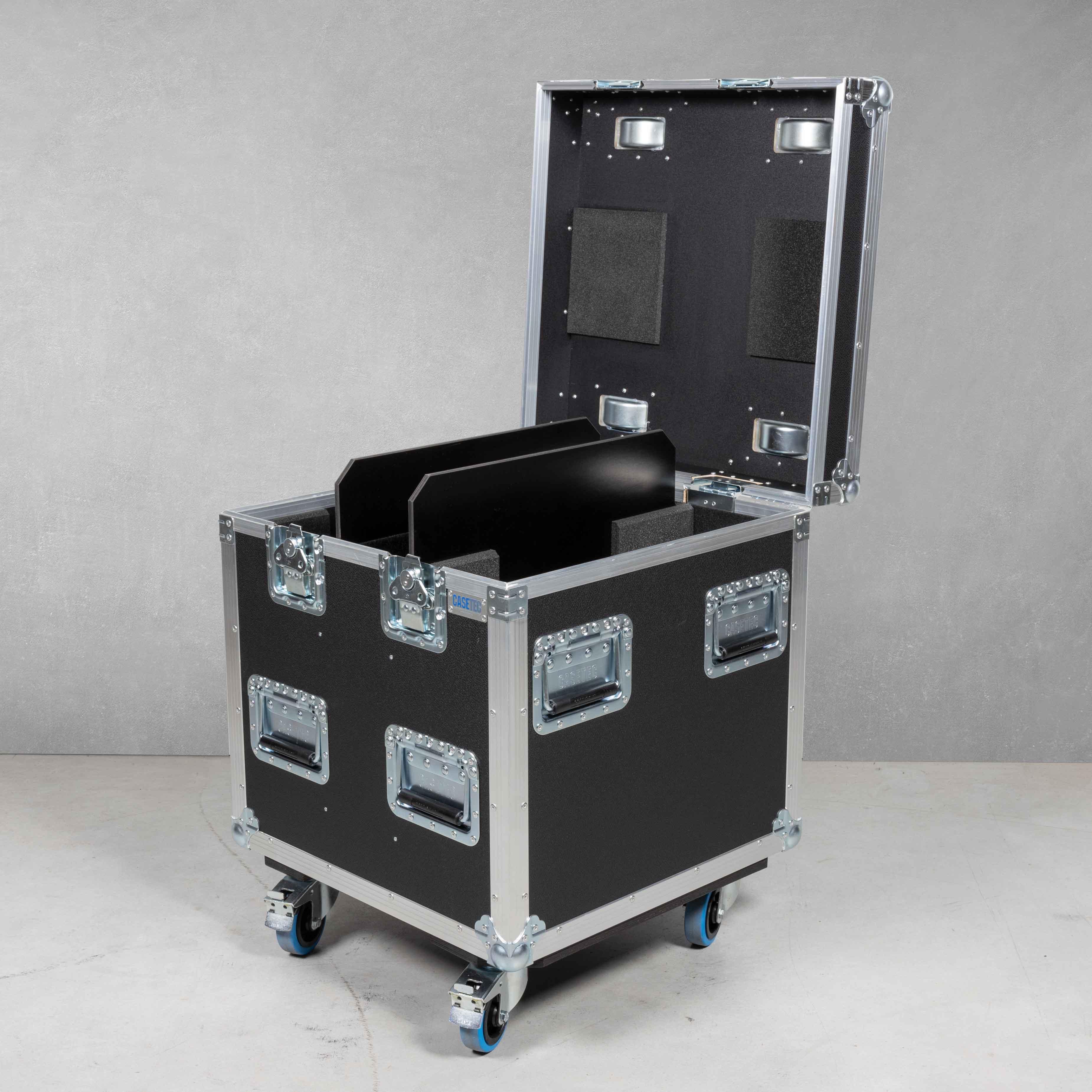 Flightcase für 2 x Elation KL Panel (P.O) (mit TV Zapfen)