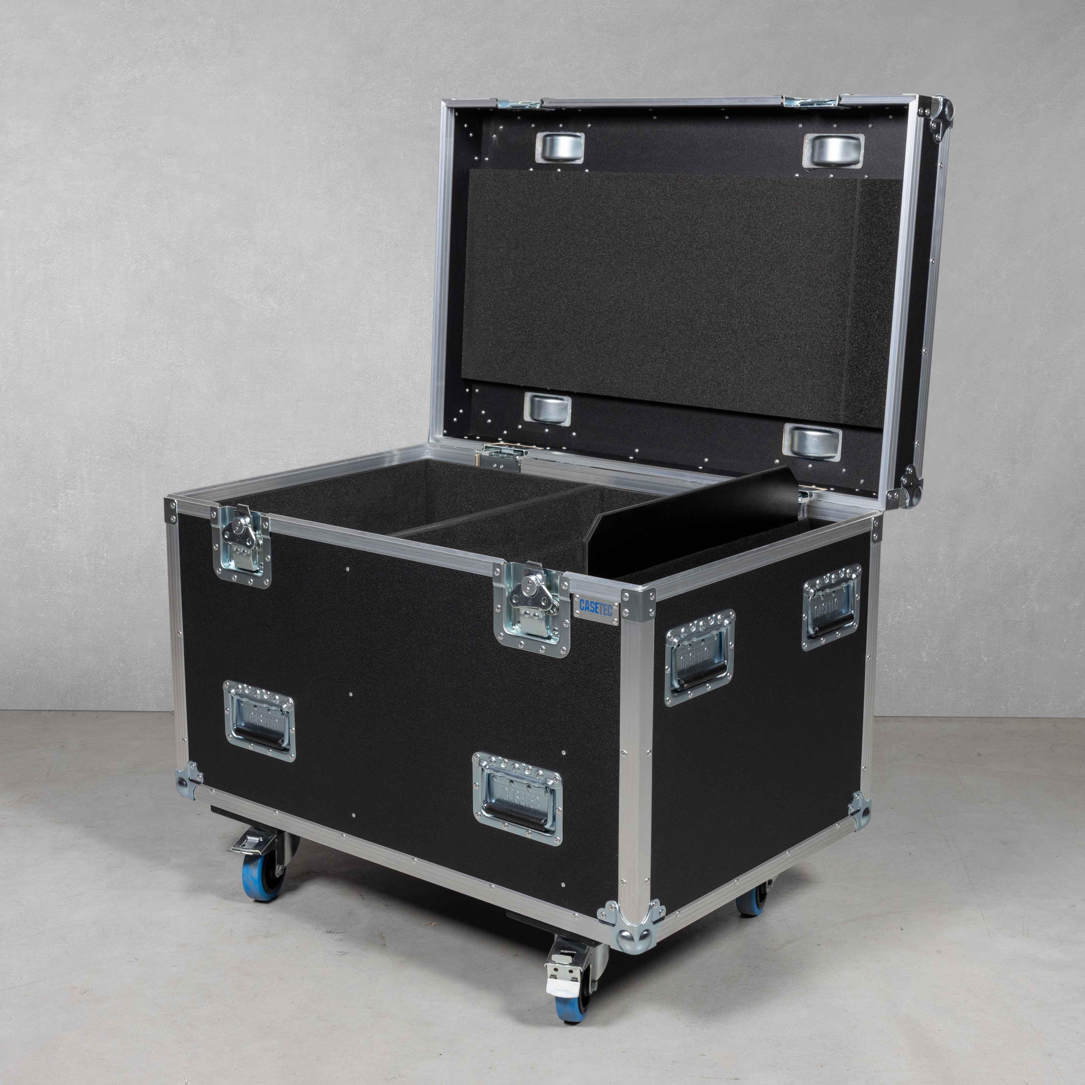 Flightcase für 4 x Arri True Blue T1 P.O