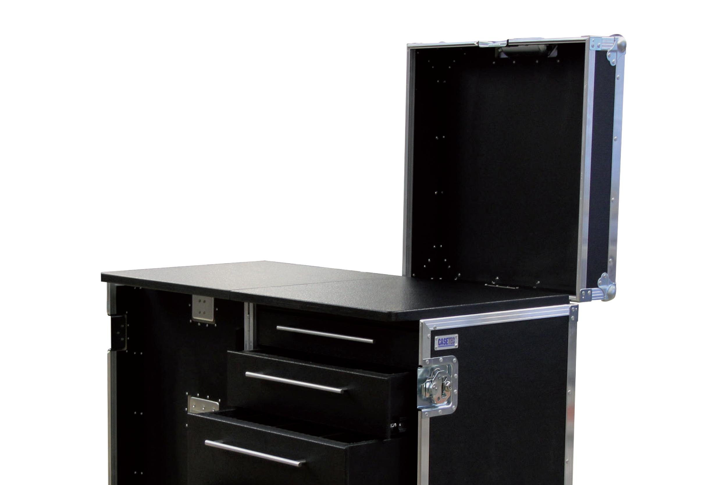 Schubladencase 120er Profi (mit klappbarer Arbeitsfläche) mit 4 Schubladen