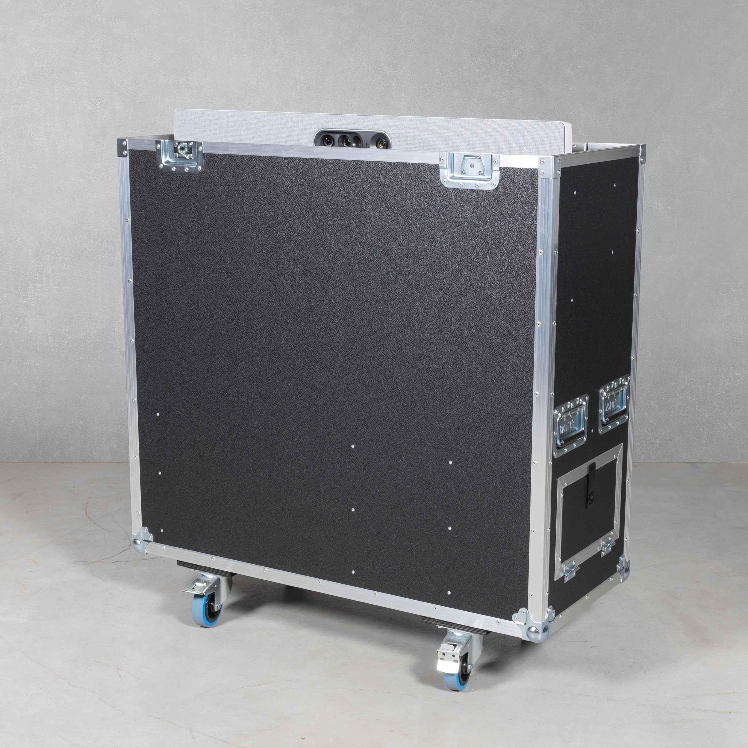 Flightcase für eine Cisco Quadcam und Cisco Webex Codex mit Liftsystem