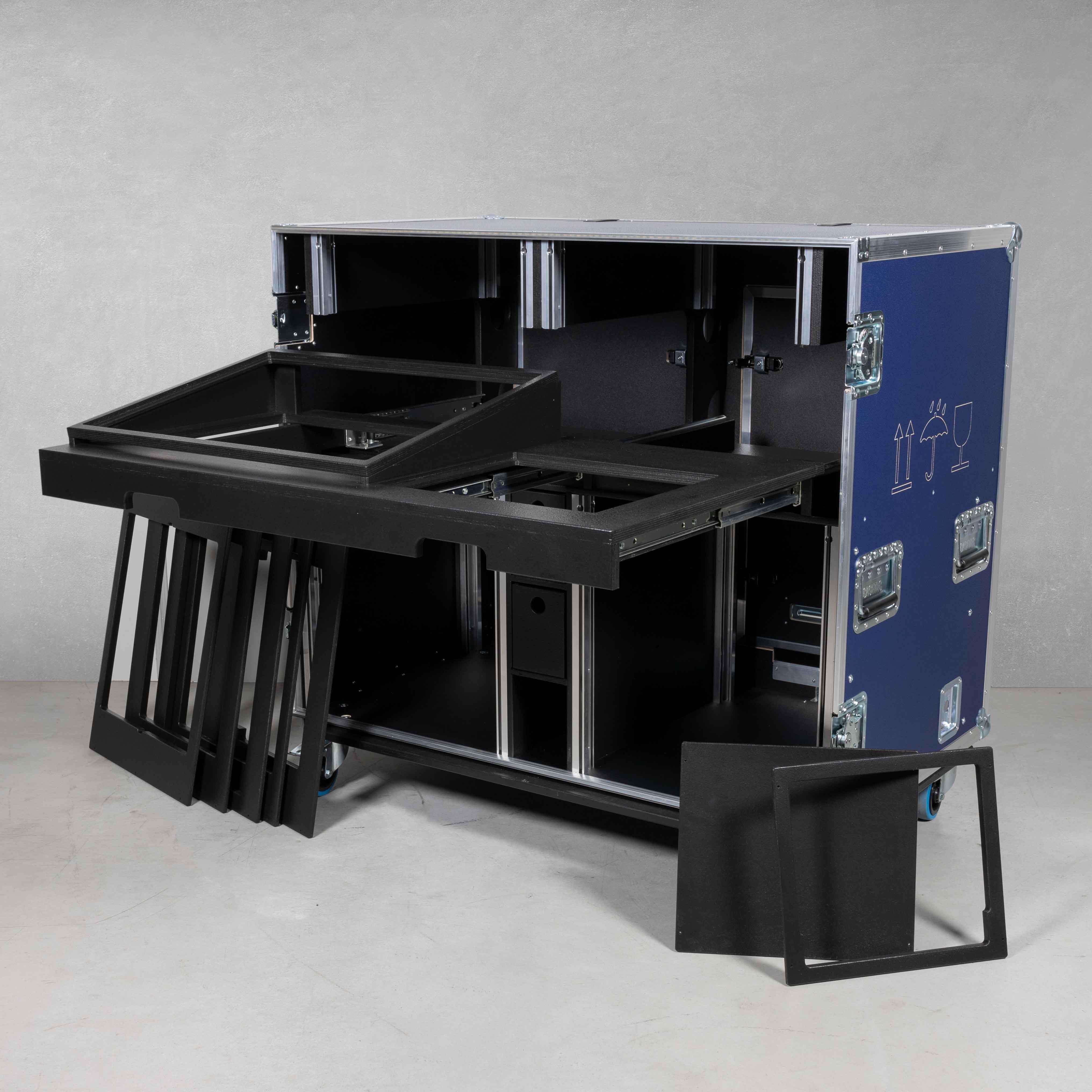 """HD Regie Case 2x19"""" 11HE Einheit & mit Arbeitsfläche (Multi Bildmischer-Case)"""