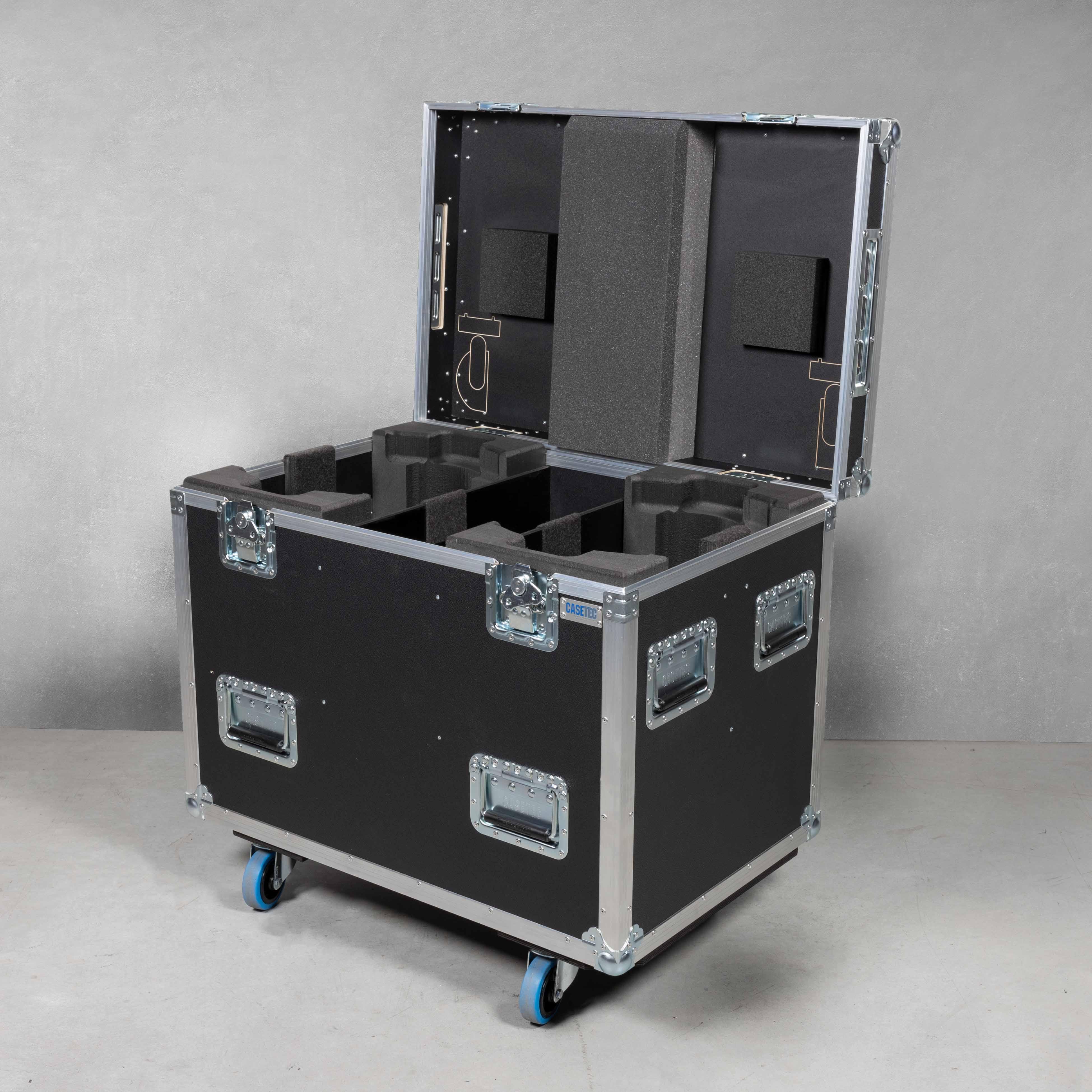Flightcase für 2 Stück ROBE iSpiider